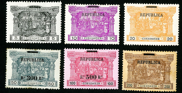 Portugal Stamps overprint  Republica