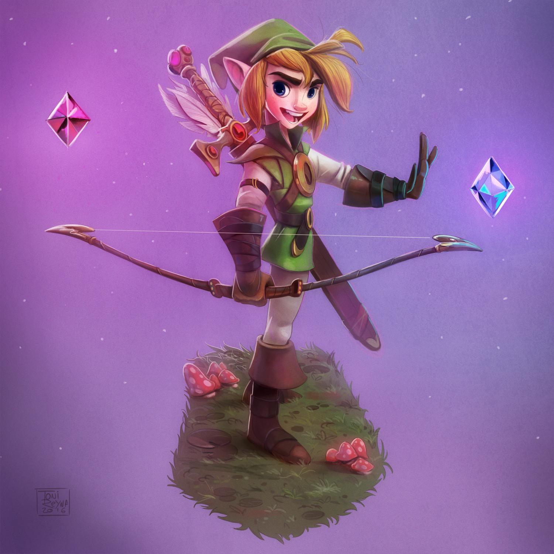 Character Design Challenge Zelda : Toni reyna link zelda version for the character