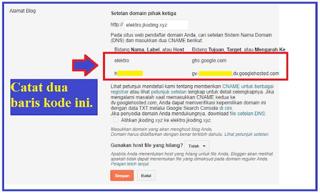 tahap 5 - mengambil CNAME pengaitan subdomain ke blogger.png