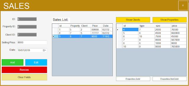 sales form