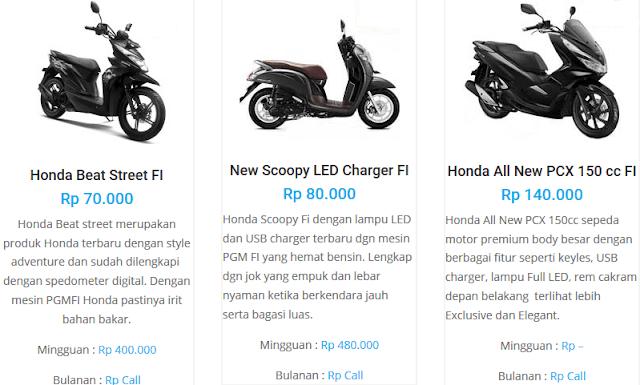 sewa motor di jogja yang murah