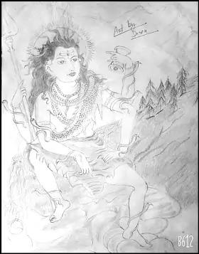 Pencil Drawing of Lord Shiva ( शिव जी का अद्भुत चित्र )