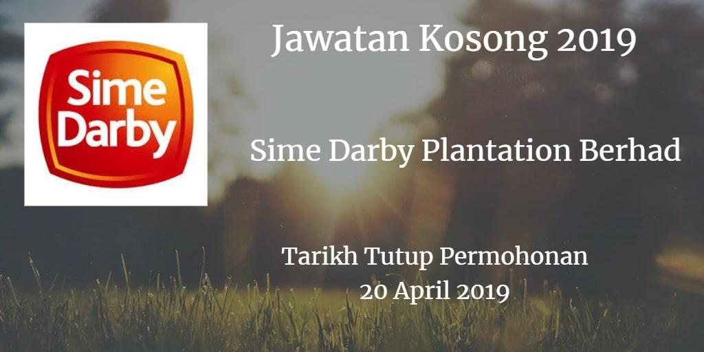 Jawatan Kosong Sime Darby Plantation Berhad 20 April 2019