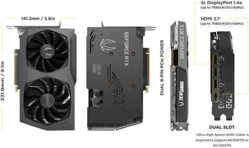 ZOTAC Gaming GeForce RTX 3070 Twin Edge OC 8GB