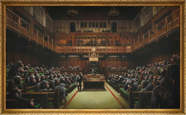 "Banksy's ""Devolved Parliament"" Was Sold for a Record $12.2 million"