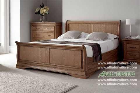 tempat tidur kayu jati model bagong blok