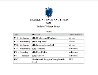 FHS Track schedule for Fall II
