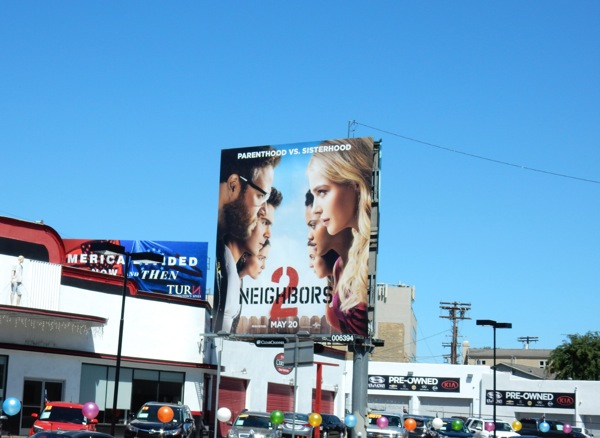 Neighbors 2 film billboard