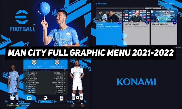 PES 2017 Mod Man City Graphic Menu 2021-2022