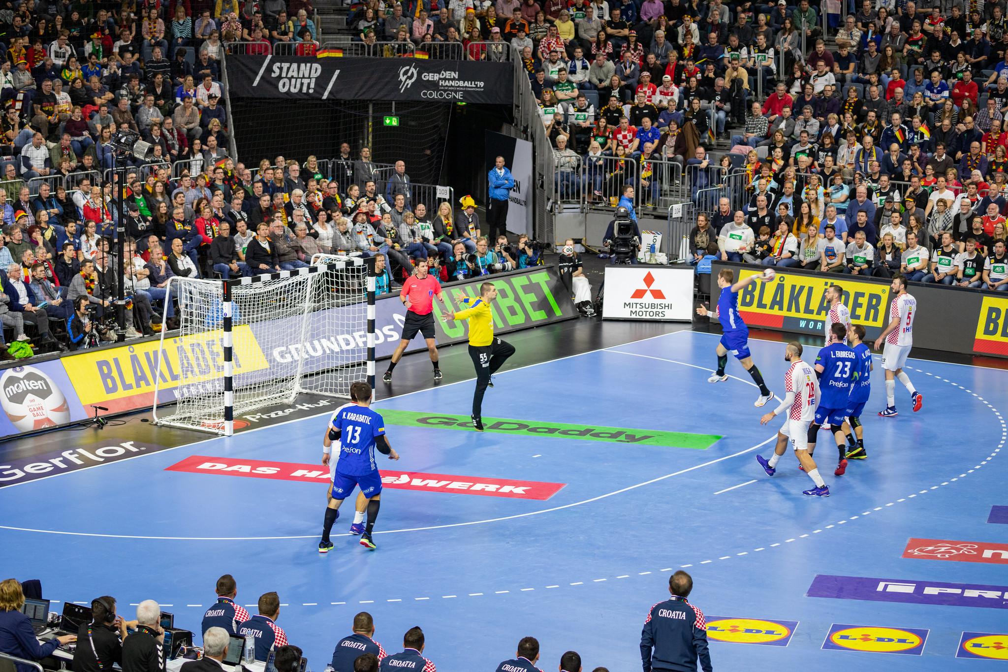 France vs. Croatia in men's team handball, 2019