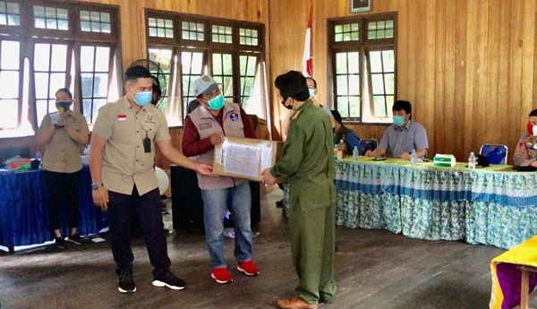 37 KK Korban Kebakaran Sei Hanyo dapat Kiriman Bantuan Pemprov Kalteng