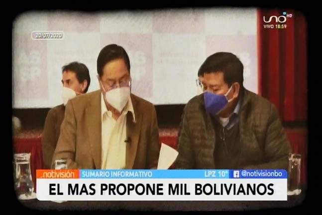 Arce Catacora anuncia bono de Bs 1000 contra el Bono Salud de 500 bolivianos propuesto por Áñez