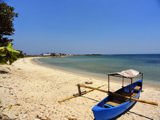 Pemandangan indah di pantai Blebak, Karanggondang, Jepara