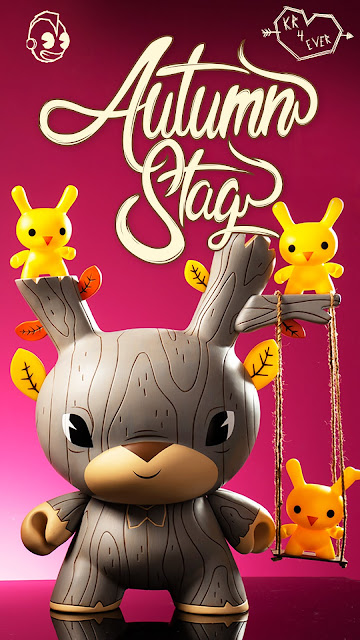 "Autumn Stag 20"" Dunny Vinyl Figure by Gary Ham x Kidrobot"