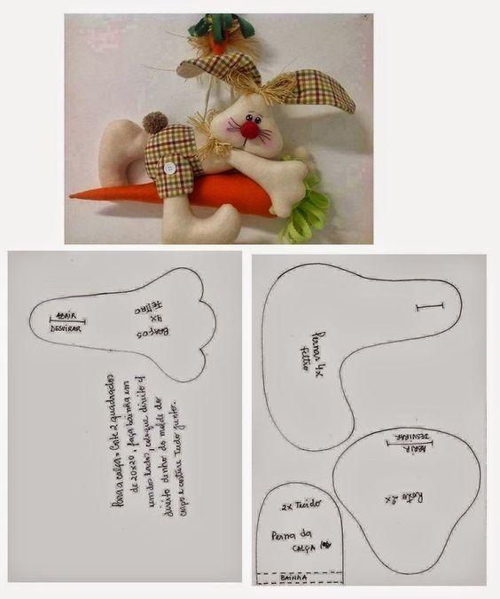 Armario Juvenil Esquinero ~ Moldes de coelhos Como Fazer