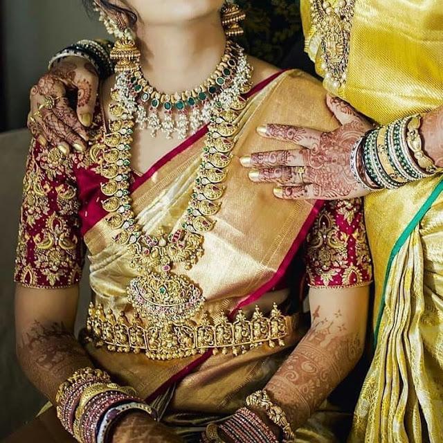 Bride in Mango Haram Green Stone Choker