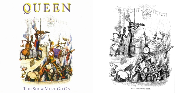 Queen - The Show Must Go On, Grandville - Das Dampfconcert