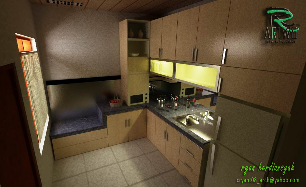 ryan08architect Design Interior  Ruang  Tamu dan  Dapur