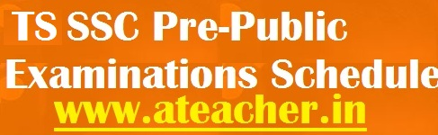 TS SSC Pre-Public Examinations Schedule 2018 |Telangana 10th Class Pre final Exams 2017-2018