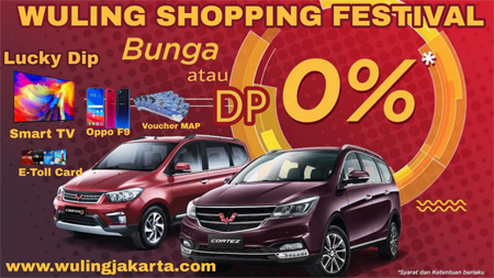 Promo Wuling Bunga 0 % / Tanpa DP Cicilan Murah