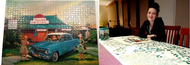 Nothing like a 1,000 piece puzzle to keep you busy