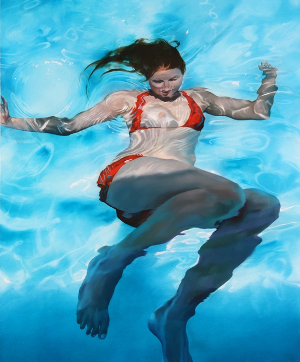 08-Sarah-Harvey-Self-Portraits-of-Realistic-Underwater-Paintings-www-designstack-co