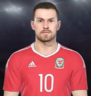 PES 2018 Faces Aaron Ramsey by Facemaker Ahmed El Shenawy