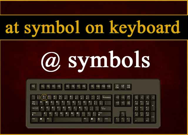 At Symbol on Keyboard Understand Easy 100%