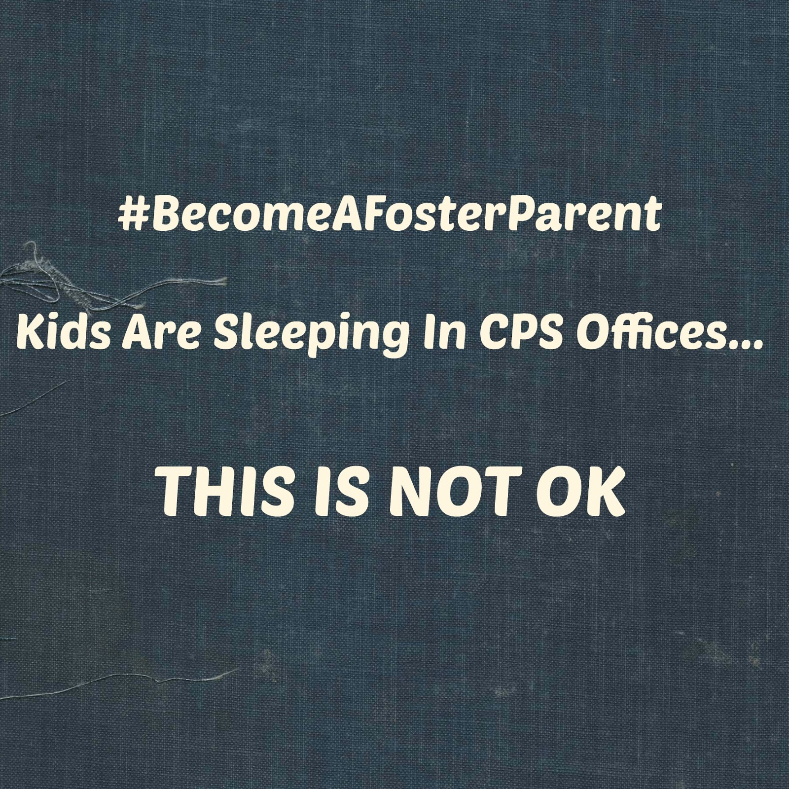 Miss Anna Pie: Texas Kids Are Sleeping In CPS Offices