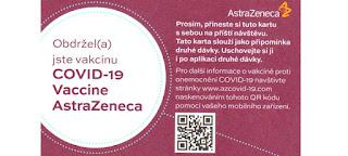 AstraZeneca očkovací kartička