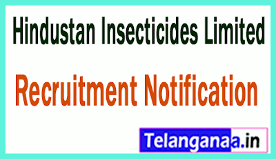 Hindustan Insecticides Limited HIL Recruitment Notification