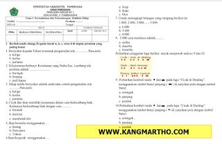 Soal PH K13 SD Kelas 3