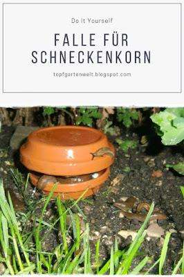 DIY: Schneckenfalle für Schneckenkorn aus Tonuntersetzern selber basteln - Gartenblog Topfgartenwelt #diy #schneckenbekämpfen #schnecken #schneckenkorn #fallebasteln #schneckenfallebasteln