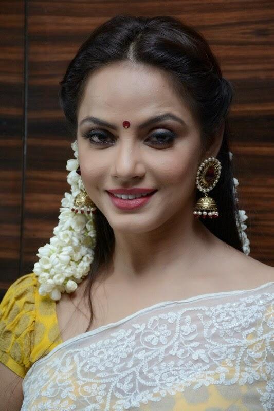 Neetu Chandra Hot Looking Photos In White Saree
