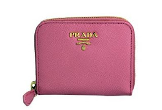 Prada Saffiano Metal Zip Around Mini Wallet
