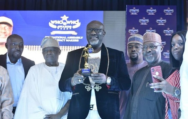 """Dino Melaye Receives Best Senator, Politician Of The Year """"Who Is Who"""" Awards (PHOTOS)"""