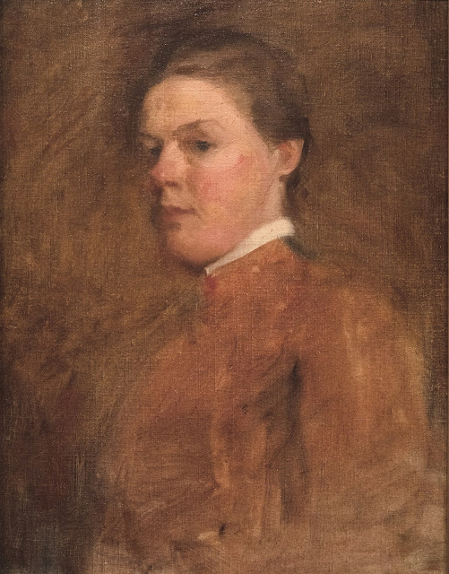"""Self-Portrait"" • Cecilia Beaux • ca. 1889-1894 • Oil on Canvas • 45.4 x 35.2cm"