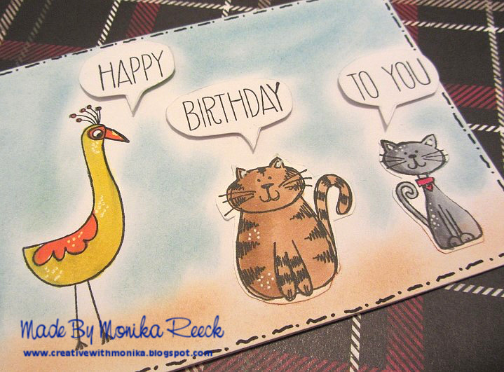 My Second Card For CAT LOVERS Blog Hop And A Geometric Birthday