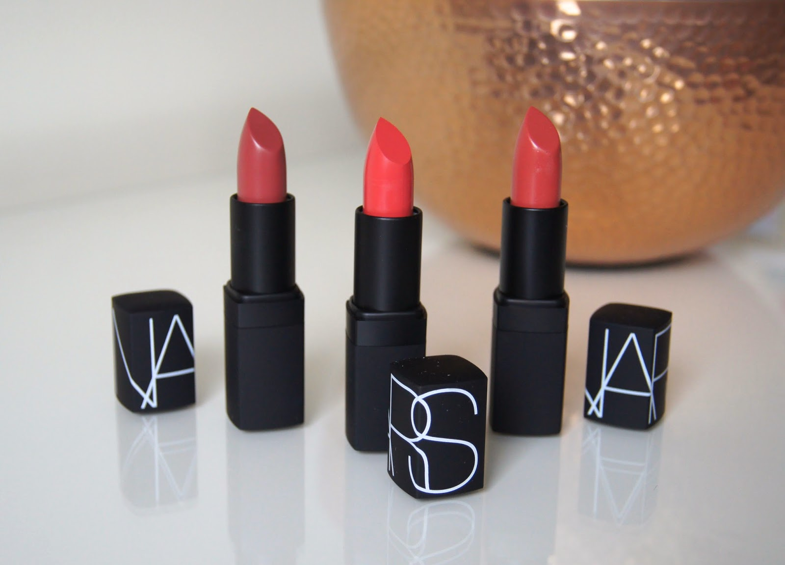 nars lipstick review dolce vita niagara mayflower swatches