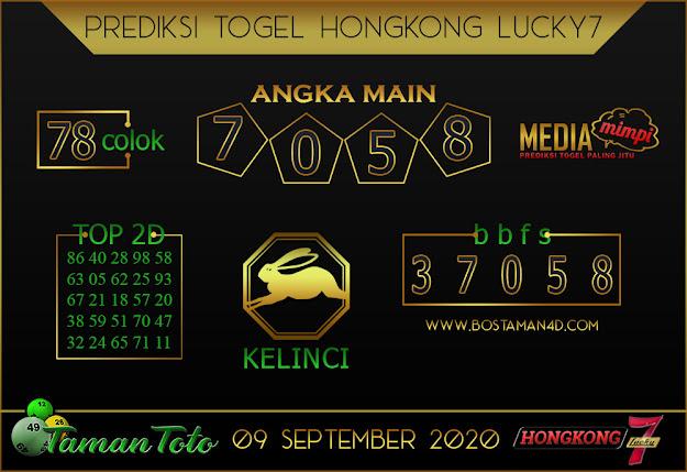 Prediksi Togel HONGKONG LUCKY 7 TAMAN TOTO 09 SEPTEMBER 2020
