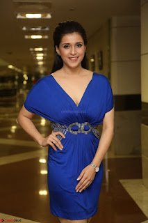 Mannara Chopra in Short Blue Dress at Rogue Movie Teaser Launch 1st March 2017 100.JPG
