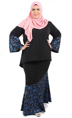 Model Baju Muslim Untuk Orang Gemuk Gaya 1