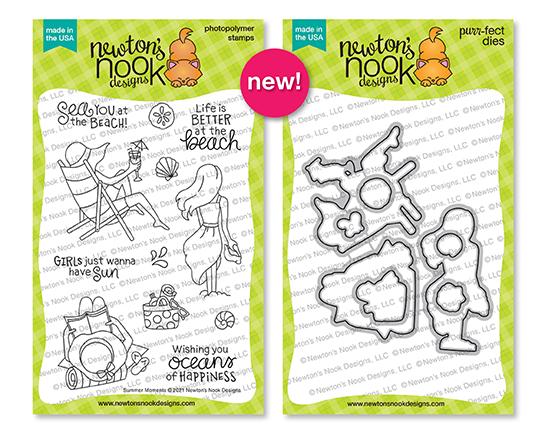 Summer Moments Stamp Set & Die Set by Newton's Nook Designs #newtonsnook