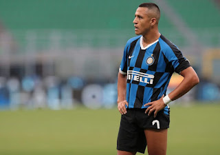 Inter Milan Striker Alexis Sanchez out with hamstring injury