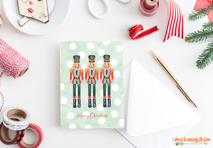 Watercolor Nutcracker Cards