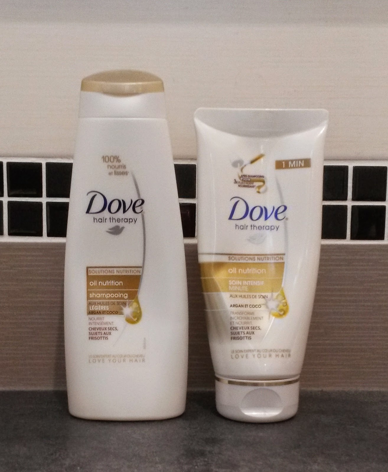 Gamme oil nutrition Dove shampoing et soin