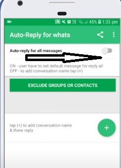 auto reply, आप्शन, whatsapp