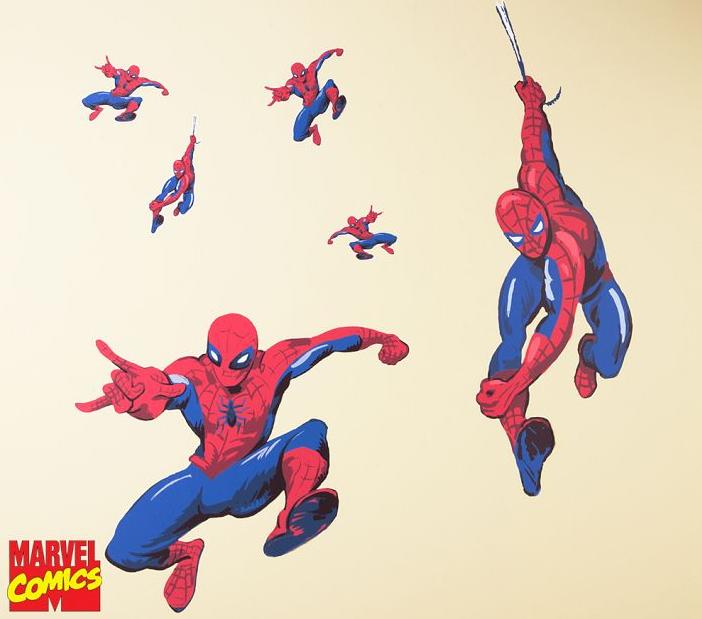 Super Store Heroes Marvel Spiderman Bedroom Decals