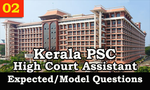 Model Questions High Court Assistant - 02