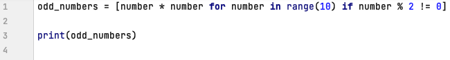 List comprehension in Python